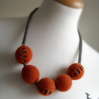Knitted necklace for you by okapiknits on Etsy