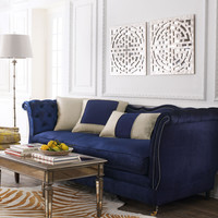 Haute House Horton Navy Velvet Sofa