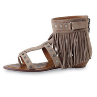 Ladies Fringe Sandals