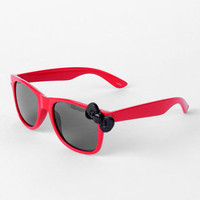 Kitty Kitty Bang Bang Sunglasses in Black and Red :: tobi