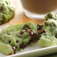 Mint Chocolate Chip Cookies Recipe from Betty Crocker