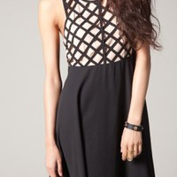 Lazer Cut Dress