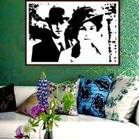 Downton Abbey Art Print Black and White Contemporary Modern Historical England English Romantic Romance