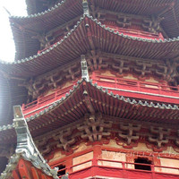 Oriental Architecture Tower Red 8x10 art photo by AngsanaSeeds