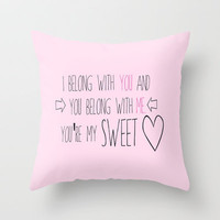 Sweetheart Throw Pillow by Amber Rose | Society6