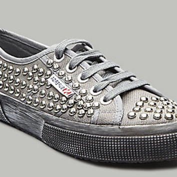 Superga-USA.com - 2750 CANVAS STUDS GREY SILVER