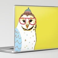 Barn Owl Dude Laptop & iPad Skin by Ashley Percival | Society6