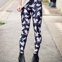 Unicorn Black Leggings (Made to Order) | Black Milk Clothing