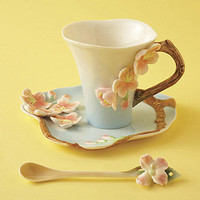 Two's Company Cherry Blossom Tea Set