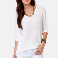 The Big Chill Ivory Sweater