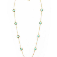 Danville Circle & Chain Necklace in Mint
