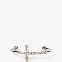 Rhinestone Cross Cuff | FOREVER21 - 1027704255