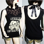 Avenged  Sevenfold  Metal Punk rock DIY Gothic Victorian Lace Tank Top Shirt