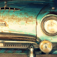Classic Car Austin  Blue Green Vintage Car  Fine by Maximonstertje