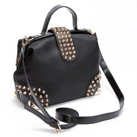 New Style Fashion Cone Rivets Handbag Shoulder Bag