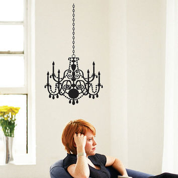 Wall Decal Elegant Chandelier vinyl wall art decal 1129