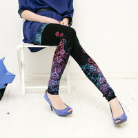 Space diamond leggings