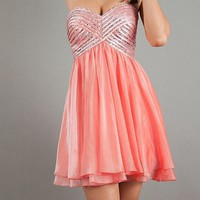 2013 Short Strapless Sweetheart Prom/Graduation Dress
