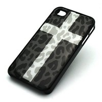Amazon.com: BLACK Snap On Case IPHONE 4 4S Plastic Cover - SNOW CROSS LEOPARD cheetah cougar lion camo white: Cell Phones & Accessories