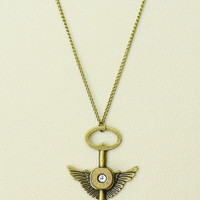 Bullet Necklace, Birthstone Necklace, Key Necklace, Outlaw Glam