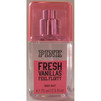 "Victoria's Secret Pink Fresh Vanillas ""Feel Flirty"" Body Mist 75ml/ 2.5 Fl 0z Travel Size"