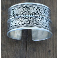 Natalie B Jewelry Tessa German Silver Cuff