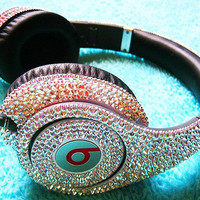 Custom Swarovski Beats By Dre Overear Headphones by LoveJamieO