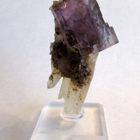 Mineral Specimen - Fluorite, Calcite - Minerva No.1 Mine, Cave-in-Rock, Illinois, USA
