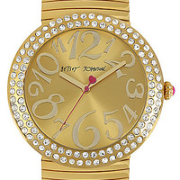 BetseyJohnson.com - GOLD STRETCH BAND WATCH GOLD