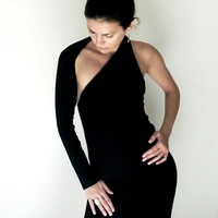 Black Dress One Shoulder LBD - Donation to UNICEF - Item MM-DRT13-1B04