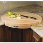 John Boos Corner Counter Saver 24-by-18-Inch Oval-Shaped Cutting Board