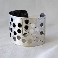 Large Sterling Cuff by cyndiesmithdesigns on Etsy