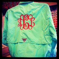 Monogram Columbia Fishing Shirt PFG Font Shown by MONOGRAMSINC