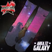 Area 72 Galaxy Custom Nike Elite Socks | Rock &#x27;Em Apparel