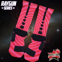 Raygun Series Custom Nike Elite Socks - Magenta | Rock &#x27;Em Apparel