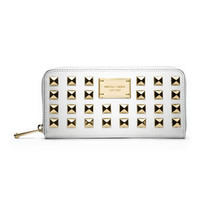 MICHAEL Michael Kors  Pyramid-Stud Saffiano Continental Wallet - Michael Kors