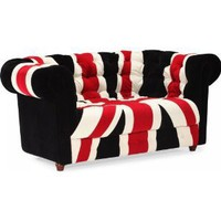 Union Jack Love Seat by Zuo Modern