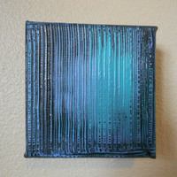 Abstract Painting Aqua and Violet 4 x 4 by Acires on Etsy