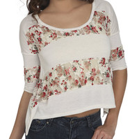 Floral Lace Inset Tee | Shop Sale at Wet Seal