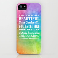 Sunshine Face iPhone Case by Rachel Caldwell