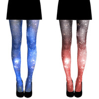 SPECIAL 2X Galaxy Tights Nebula Sheer Leggings by Shadowplaynyc
