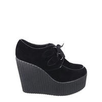 Lace Up Creeper In Black|Thirteen Vintage