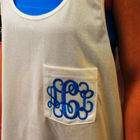 Monogram Tank Big Pocket Unisex  Font Shown  INTERLOCKING