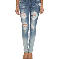 Gradient Wash Destroyed Skinny Jean | Shop Just Arrived at Wet Seal