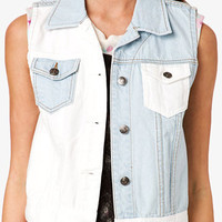 Colorblocked Denim Vest | FOREVER 21 - 2035301400