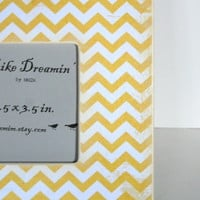 Yellow Chevron Picture Frame | Luulla