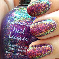 New! KLEANCOLOR  CHUNKY HOLO PURPLE   HOLOGRAPHIC GLITTER Nail Polish!