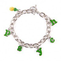 Psych Pineapple Charm Bracelet
