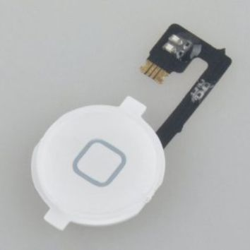 NEEWER® White Home Button with Flex Cable Replacement for iphone 4 4G