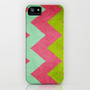 Cocktails with Lilly - Pink, Aqua, Green Chevron iPhone Case by CMcDonald | Society6